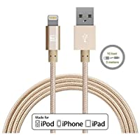 LAX Gadgets Apple MFi Lightning Cable, Gold, 6 Feet