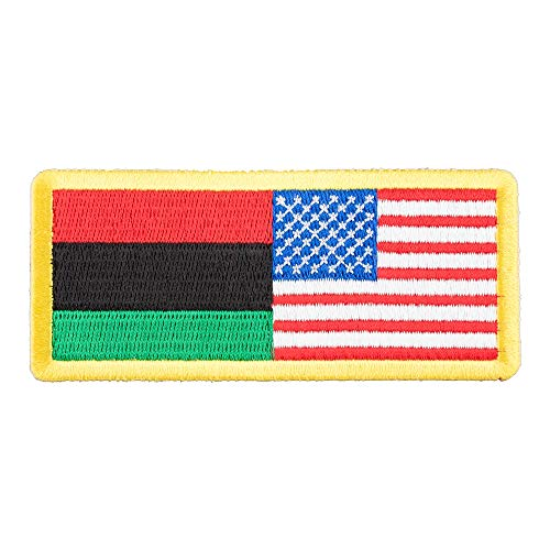 American & Afro-American Flag Patch, U.S. Flag ()