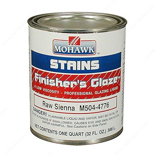 Finisher's Glaze Glazing Stain, Volume 32 oz, Finish Burnt (Burnt Umber Glaze)