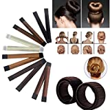 EGOS Bun Maker Hair Accessories French Twist Hairstyle Synthetic Hair Material Easy Making Natural Look Bun Disks Tool (Pack of 6 Different Colors (Bun Maker)