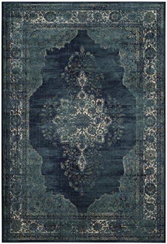 Safavieh Vintage Premium Collection VTG122-2330 Transitional Oriental Navy Distressed Silky Viscose Area Rug 2 x 3