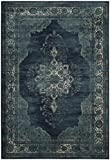 Safavieh Vintage Premium Collection VTG122-2330 Transitional Oriental Navy Distressed Silky Viscose Area Rug (2′ x 3′) Review