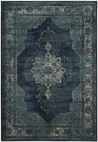 Safavieh Vintage Premium Collection VTG122-2330 Transitional Oriental Navy Distressed Silky Viscose Area Rug (2' x 3')