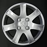 Jeu de 4 Enjoliveurs Neuf Pour Peugeot 206 / 106 / 306 / 406 / 806 / Ranch / Bipper Avec Roues Originales En 14 Pouces
