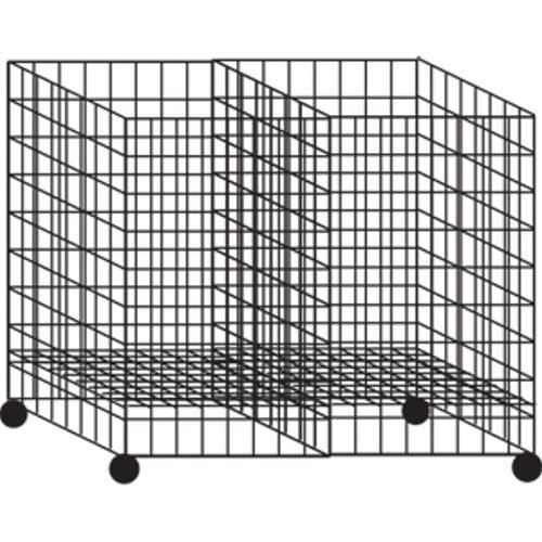 Collapsible Dump Impulse Gridwall Grid Bin Black 24''L x 36''W x 30''H Wheels New by Unknown