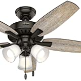Hunter 48 in. Noble Bronze Ceiling Fan with 3 LED Lights and 5 Barnwood Blades (Certified Refurbished) For Sale