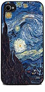 Starry Night by Vincent Van Gogh - RUBBER iPhone 4 or 4s Cover, Cell Phone Case Kimberly Kurzendoerfer