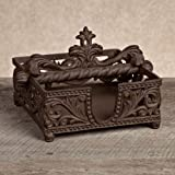GG Collection Brown Metal Napkin Holder
