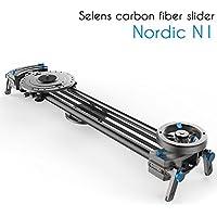 Selens Nordic N1 80cm Carbon Fiber Rail Camera Track Slider With Linear Bearing Sliding Platform & Adjustable Legs for Pro DSLR Video Camera