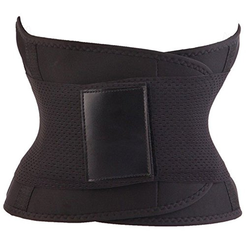HrGlass Training Waist Cincher Training Belt (Large, Black)