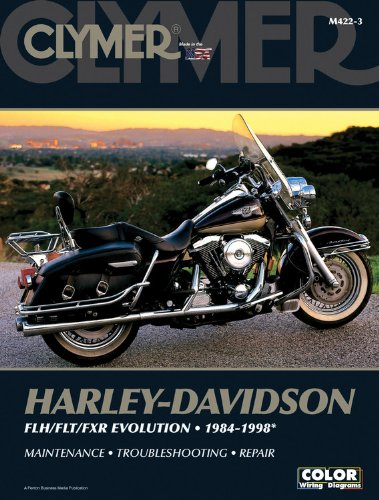 Harley-Davidson FLH/FLT/FXR Evolution 1984-1998 (CLYMER MOTORCYCLE REPAIR) (Harley Davidson Accessories Book)