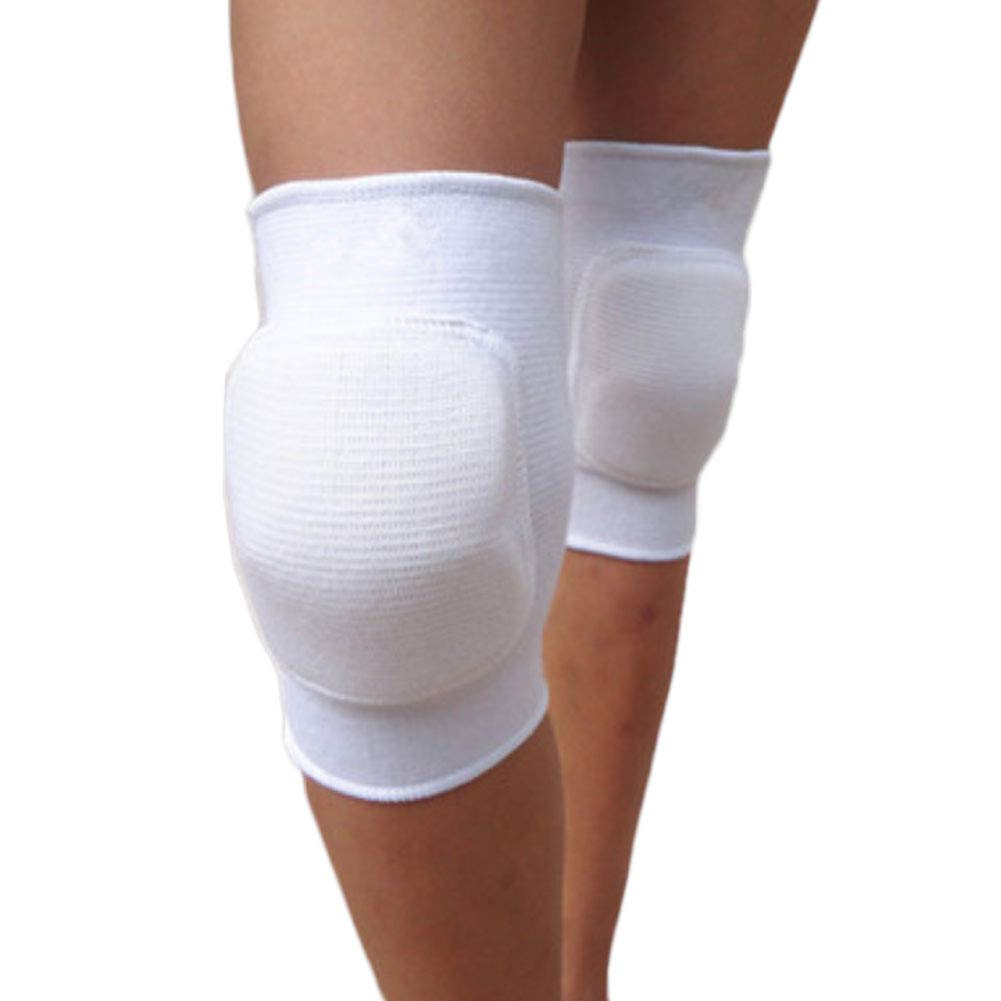 LUNA 1ペア 保護膝パッド バレーボール、ダンス用 (ホワイト S 8-12歳用) B07L5DBX8M