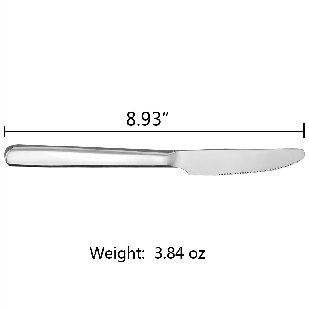 Kekow Dinner Knife, 12-Piece Stainless Steel Dinner/Table Knives by Kekow (Image #2)