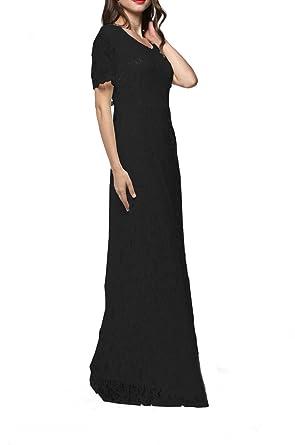 Sommerkleid Plus Größe Elegant Damen festliche Kleider Maxikleid ...