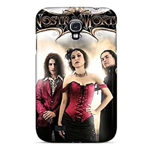 Bumper Hard Phone Cases For Samsung Galaxy S4 With Unique Design Realistic Lullacry Band Pattern JonBradica