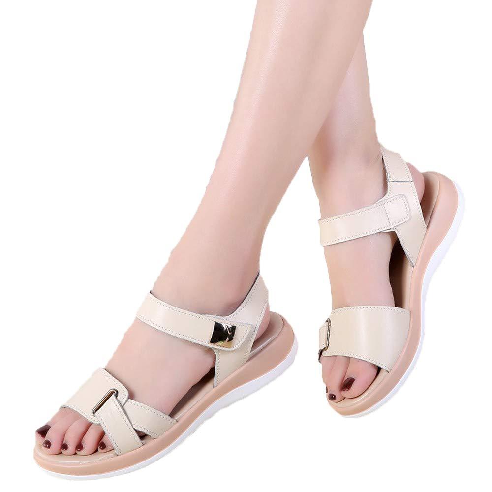 b91164a680d29 Beige KEREE Women's Fashion Fashion Fashion Flat Ankle Buckle ...