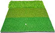 T TOOYFUL 23.6x15.7 '' Golf 3-in-1 Turf Grass Carpet Rough Fairway Practice Pad for Driving, Chipping,