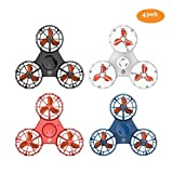 ROHSCE Novelty Tiny Flying Drone Toys, ADHD Relieving Reducer 4 Mode Playing Optional Fidget Rotation Triangle Toys Funny Drone Interactive Games for Kids Adults (4 Color)