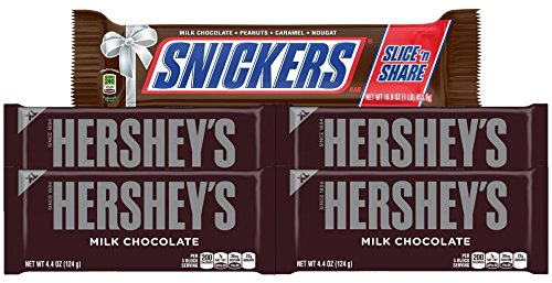 Hershey's Chocolate Bar and Snickers Slice 'n Share Candy Assortments (2+ lbs)
