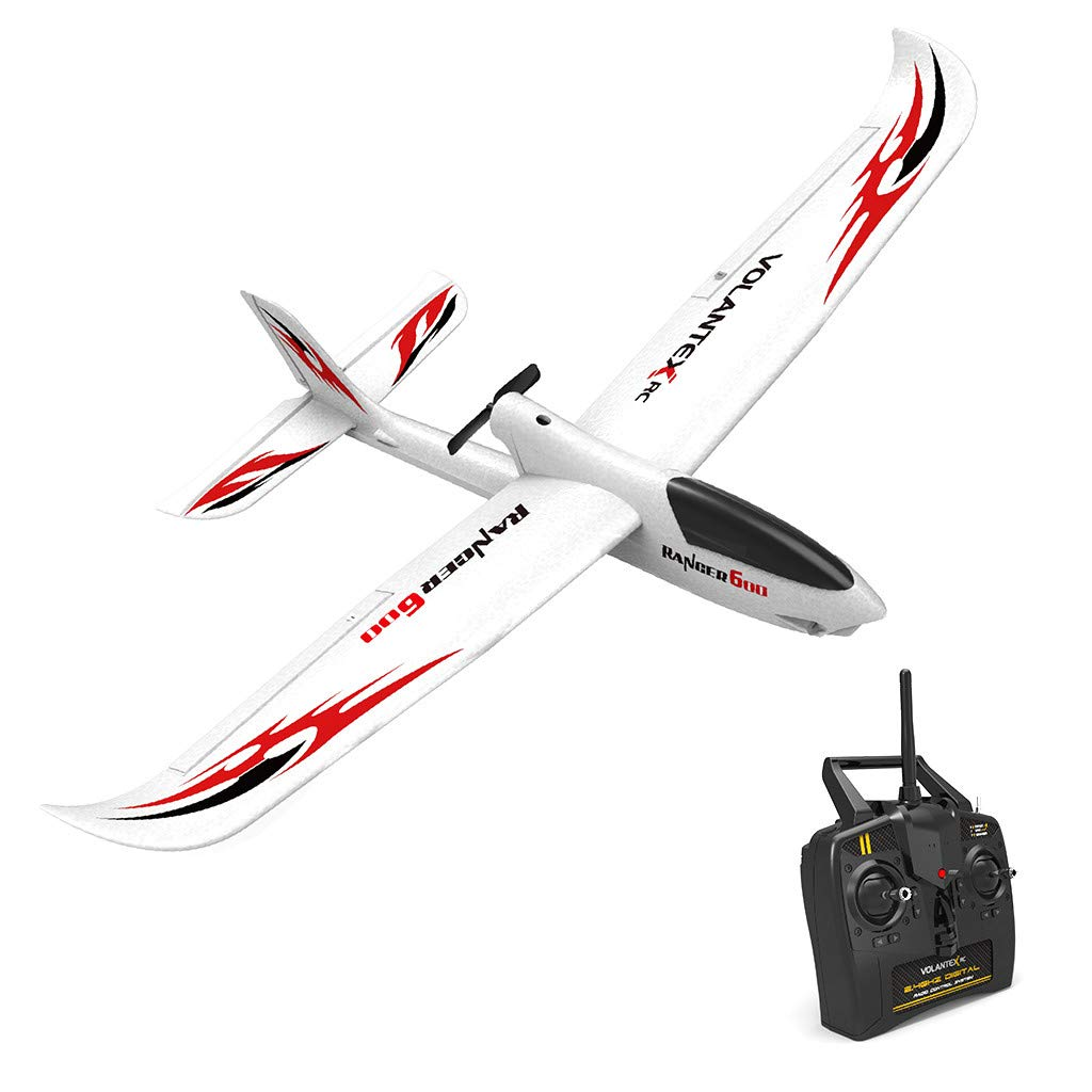 Glider 761-2 Rc Airplane with 2.4Ghz 6-Axis Gyro Easy to Fly Rtf Plane for Beginners Gearbox System Returns One-Button Large Aircraft for Outdoor Adventure by TKI-S