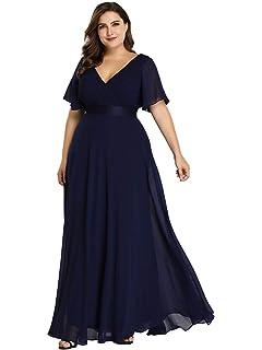 Lover-Beauty Vestido Largo Mujer Talla Grande Moda Bolsillo ...