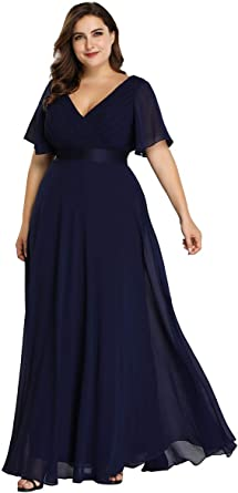 Ever-Pretty Vestido de Fiesta Noche Largo para Mujer Cuello V ...