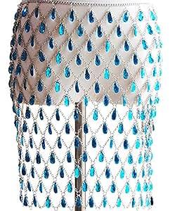 Connie Cloris Women's Sexy Suit Body Chain (A-Blue)