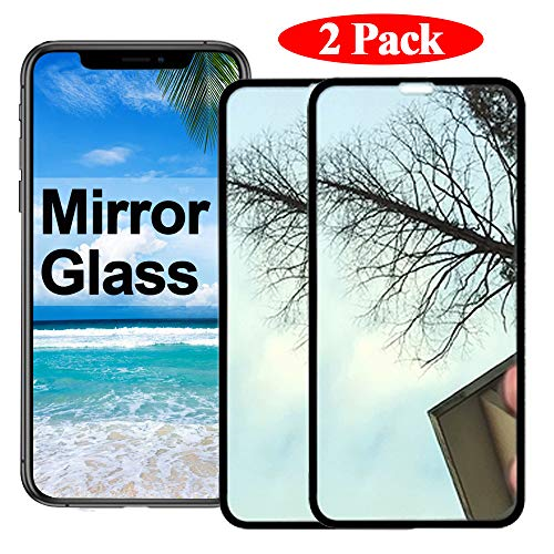 2 Pack 【Mirror Effect】 Compatible with iPhone Xs Max Screen Protector i Phone Xsmax Tempered Glass Sx Plus 10s 10xs Max iPhonexsmax Protective Film (2018) [ 3D Curved ] [ ()