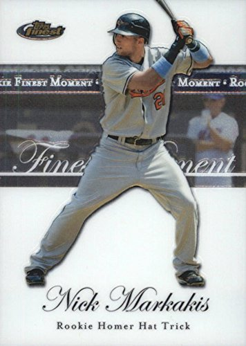 2007 Topps Finest - Rookie Finest Moments - Nick Markakis Baseball Rookie Card RC #RFM-NM