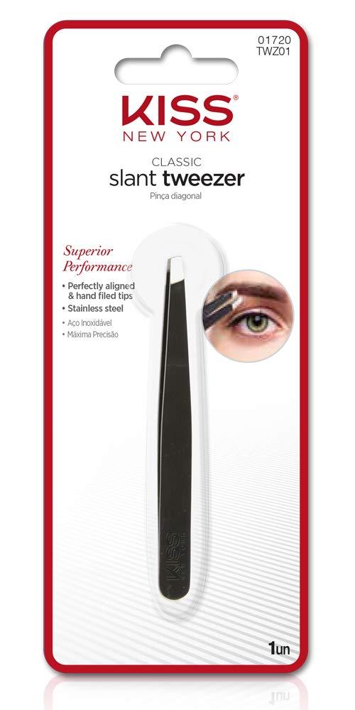 Amazon Com Kiss Premium Precision Tweezer Slant Tip Beauty