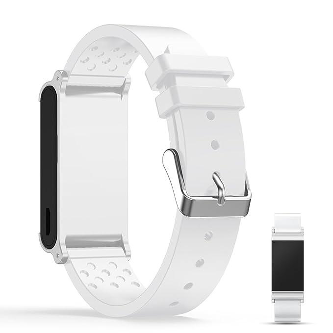 iFeeker Montre connectée Withings Pulse Ox Sangle de bande de rechange, souple en silicone Sports Sangle de bracelet Bracelet pour Withings Pulse Ox Smart ...