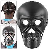 Cosplay Fantasy Black Skull Skeleton Armor Face Mask