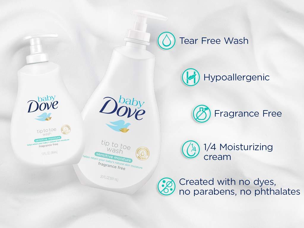 Loción Corporal Baby Dove Sensitive moisture de la cabeza a los pies 400ml - Pack de 6: 2400ml: Amazon.es: Belleza