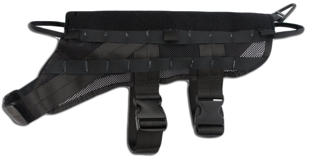 Signature K9 Modular LLC Harness, Black by Signature k-9