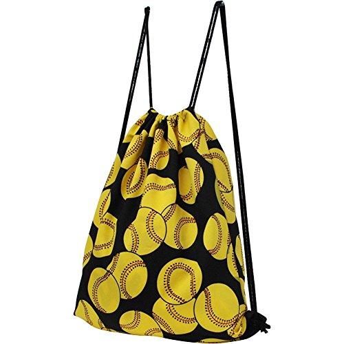 Softball Print NGIL Draw String pull Backpack