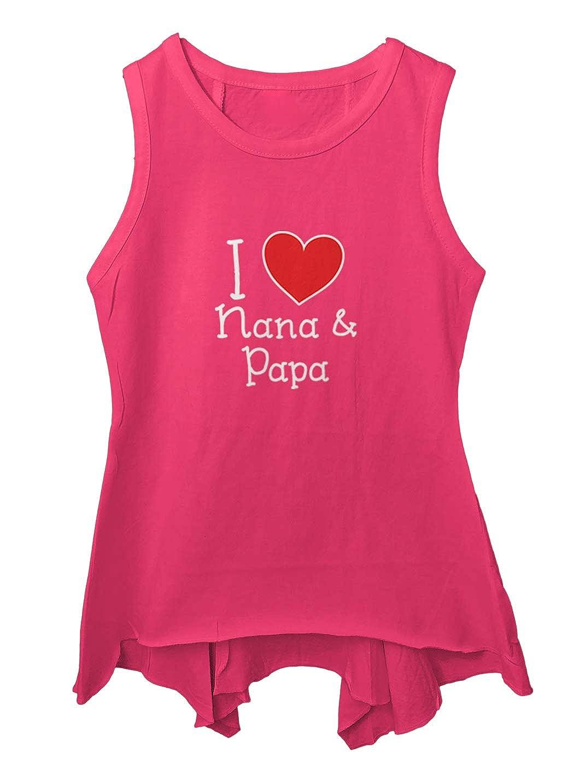 Heart Cute Toddler//Youth Sleeveless Backswing I Love My Nana /& Papa
