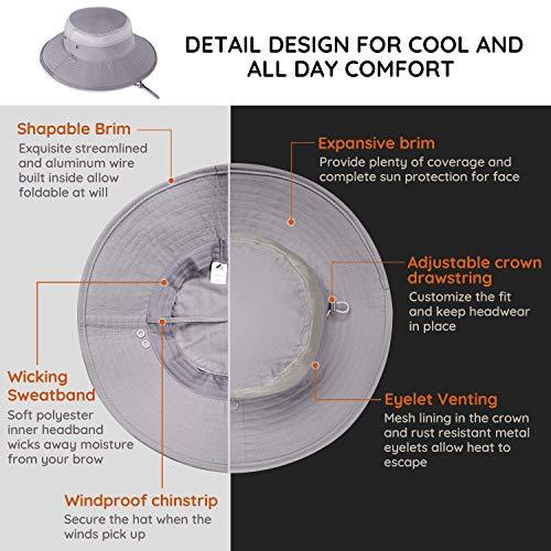 Unigear Fishing Hat, UPF 50+ UV Protection Sun Hat with