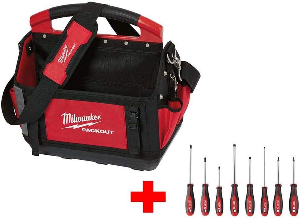 Milwaukee 15 pulgadas Packout bolsa con juego de destornilladores (8 piezas): Amazon.es: Bricolaje y herramientas