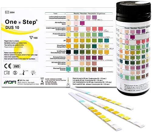 HEALTH MATE 10 Parameter Professional/GP Urinalysis Multisticks Urine Strip Test Stick Strips – Pack of 100 Strips