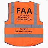 MYRIANN DJI Drone Safety Reflective Vest,Cool Cloth Vest with Commercial Drone Pilot Please Do Not Disturb,Excellent Flight Experience with DJI inspire,DJI Phantom 3 4, DJI Mavic Pro (Orange, XXL)
