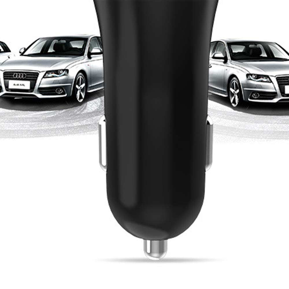 Galaxy Nexus futayi-work Note HTC and More Black 2.4A Dual USB Car Charger for iPhone iPad LG