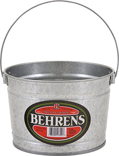 Behrens B325 Galvanized Steel Paint Pail, 2.5 quart