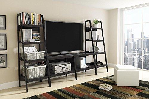 Ameriwood Home Lawrence 4 Shelf Ladder Bookcase Bundle, Black by Ameriwood Home (Image #4)