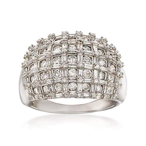 Ross-Simons 1.95 ct. t.w. Diamond Basketweave Ring in Sterling Silver