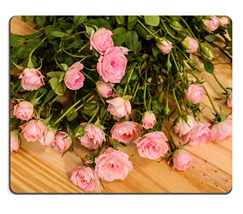 MSD Natural Rubber Mousepad IMAGE ID: 30413118 Bunch of small pink Roses (Rose 568)