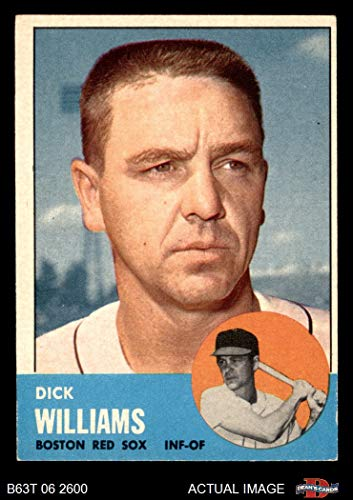 1963 Topps # 328 Dick Williams Boston Red Sox (Baseball Card) Dean's Cards 4 - VG/EX Red Sox