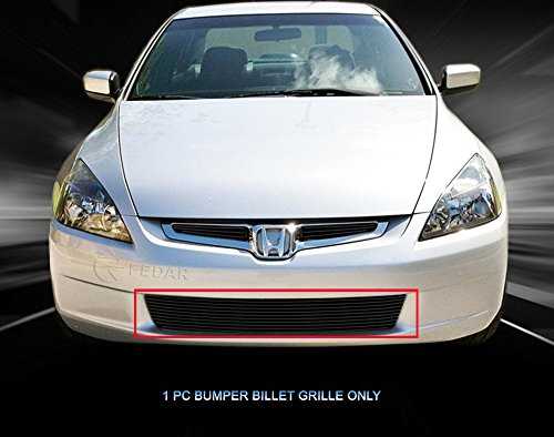 - Fedar Lower Bumper Overlay Billet Grille Insert for 2003-2005 Honda Accord Selected Models