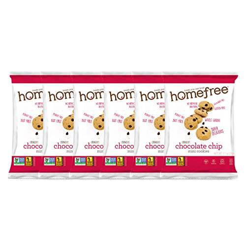 Homefree Treats You Can Trust Gluten Free Chocolate Chip Mini Cookie, 1.1oz Single Serve bag, (Pack of 64)
