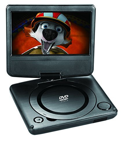 "Onn ONA17AV041 7"" Portable DVD Player Bundle, Built-in Stere"