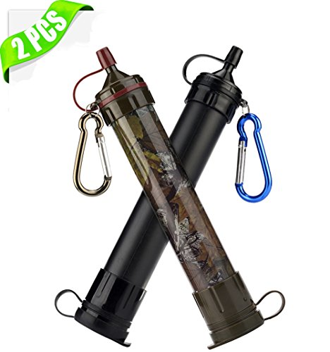 Upgraded Personal Water Filter Safety Purification Portab...